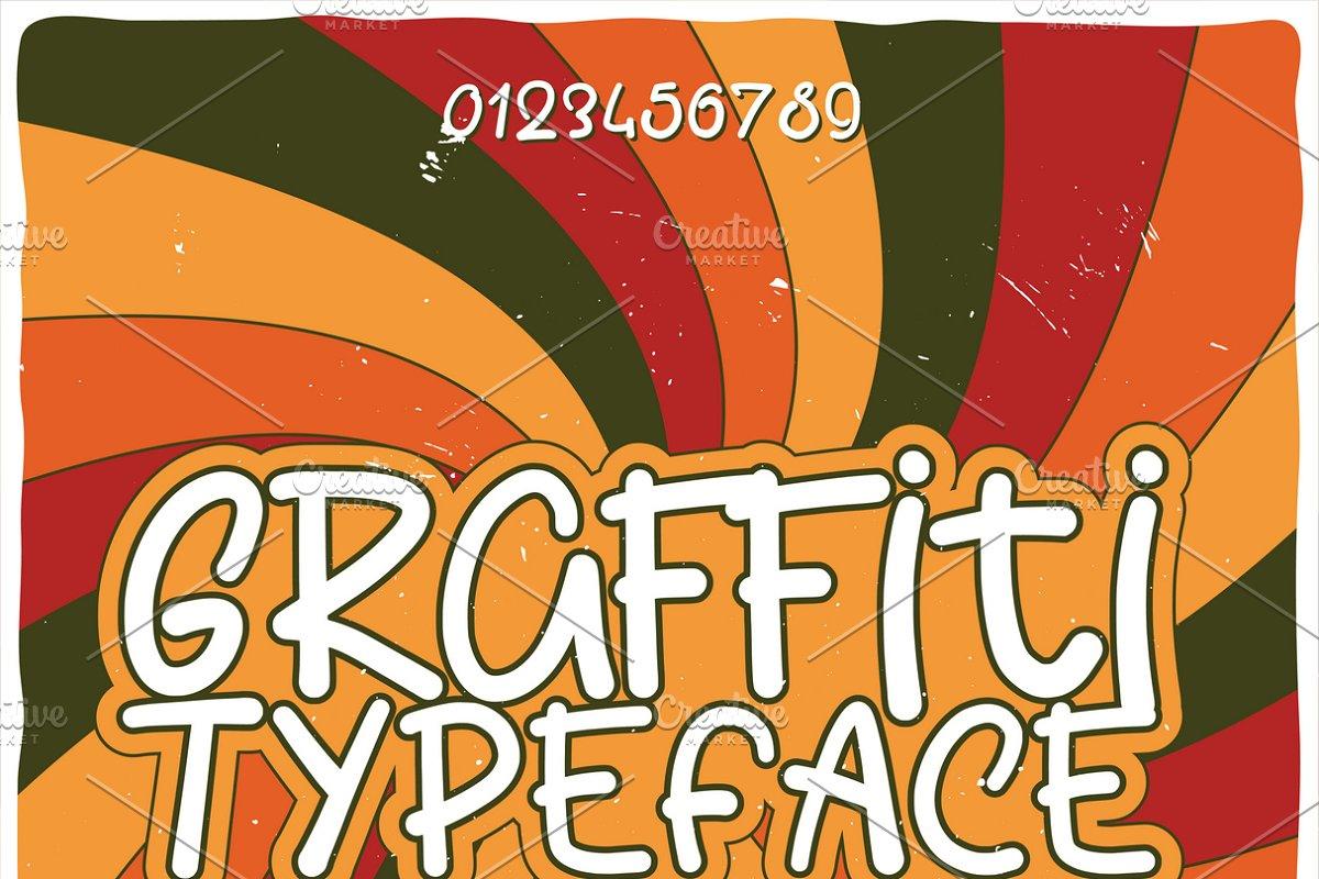 Vintage label typeface Graffiti