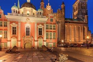 Old Gdansk by night