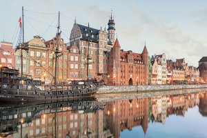 Central quay of Gdansk, Poland