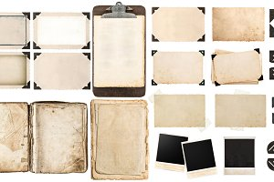 Old paper and picture frames JPG