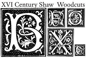 XVI Century Shaw Woodcuts