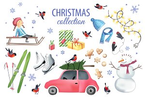 Christmas graphic elements