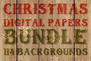 60% OFF-114 Christmas Digital Papers