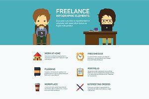 Freelance infographic template