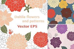 Dahlia clip art - vector