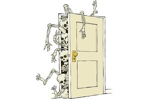 Cartoon skeletons in the closet