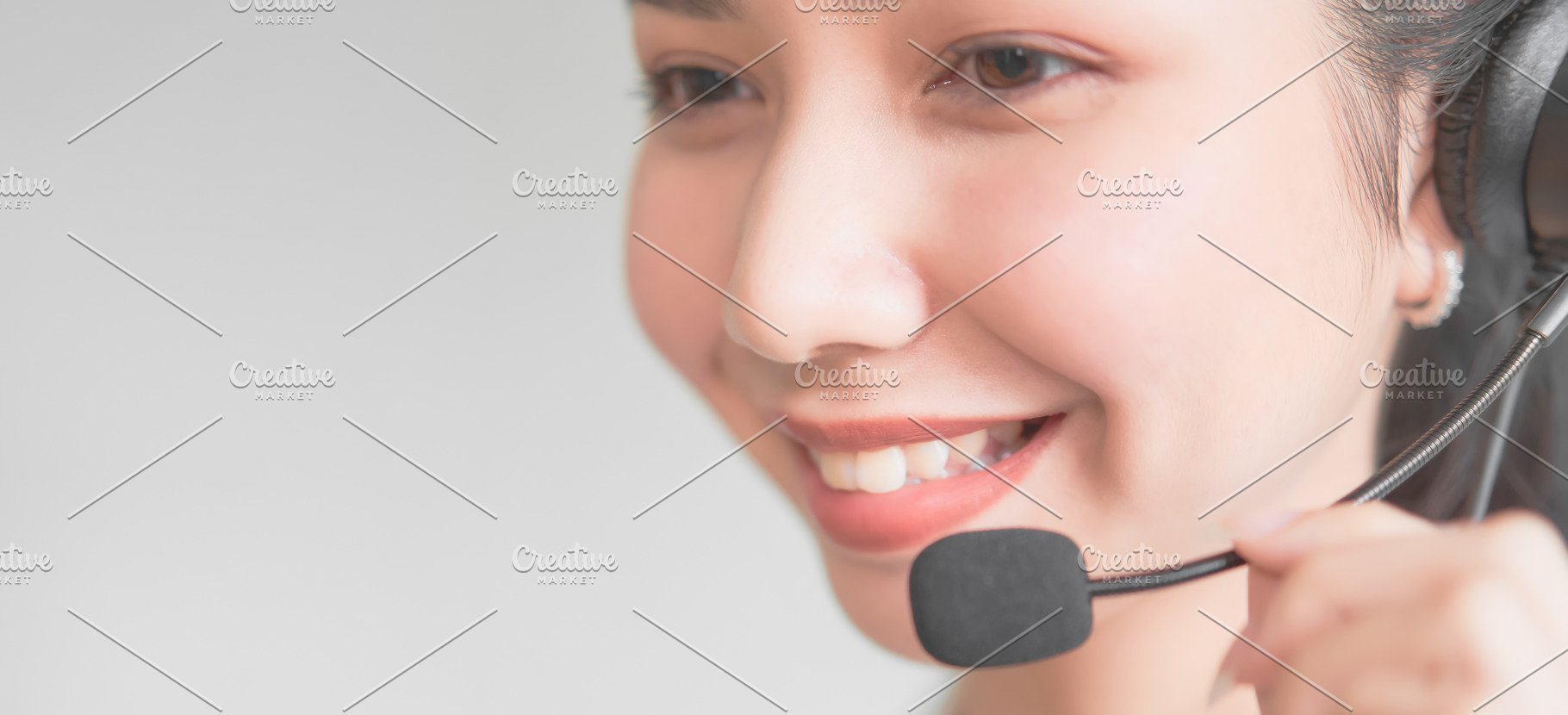 Smiling Asian Woman Consultant Weari