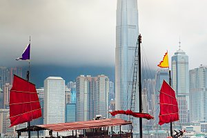 Traditional Hong Kong sailboat