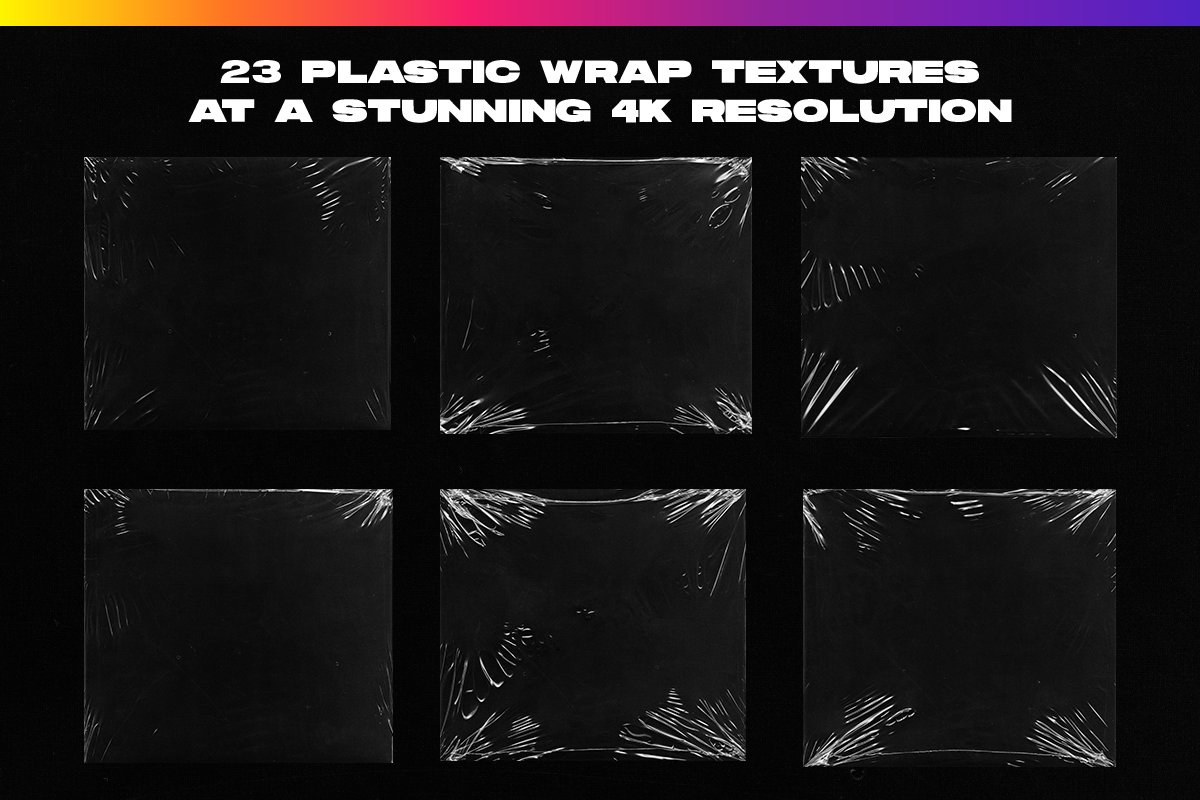 4K Plastic Wrap Textures Volume 2 in Textures - product preview 6