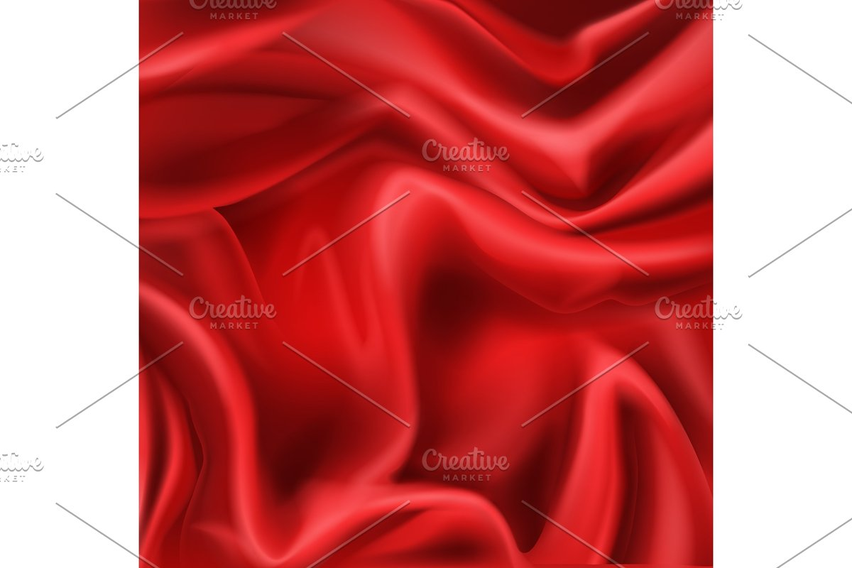 Red silk folded fabric background in Textures - product preview 8