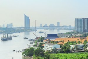 Panoramic view of Bangkok,Thailand