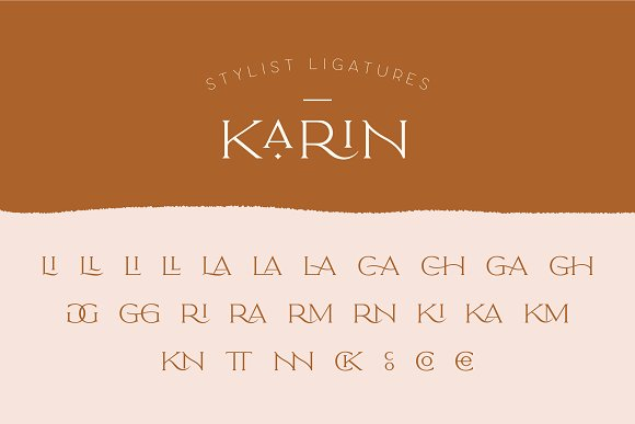 Elegant Karin - Stylish Typeface in Serif Fonts - product preview 3