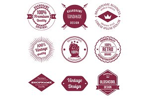 Set of Brand Design Badges