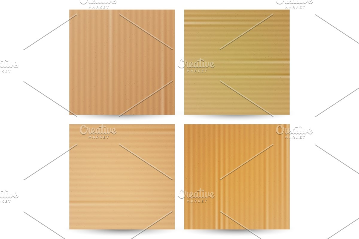 Cardboard Textures Vector Set in Textures - product preview 8