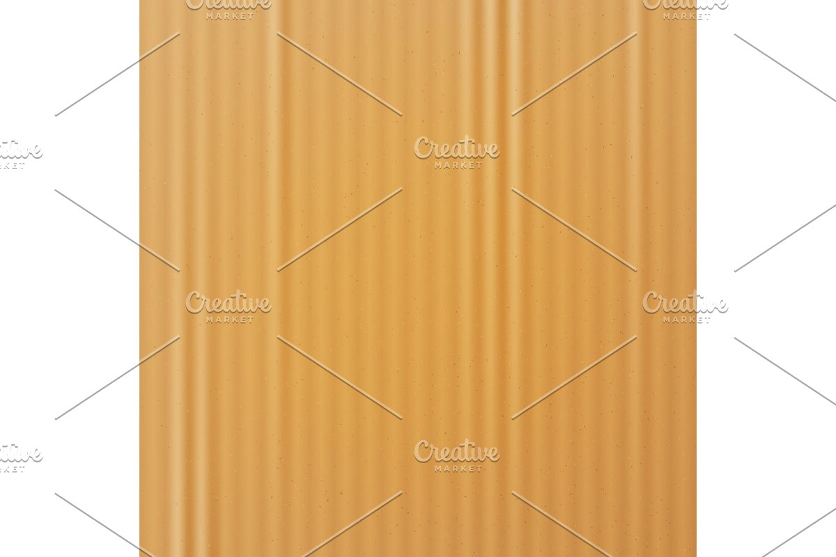 Cardboard Texture Vector. Realistic