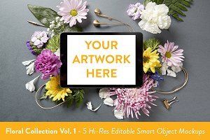 Floral Collection Mockups Vol. 1