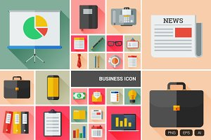 24 Flat Business Vector Icon