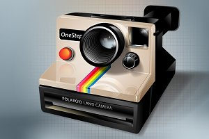 Polaroid icon, vectors