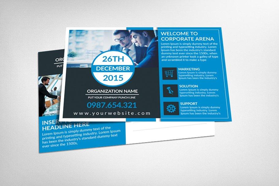Corporate Training Postcard Template