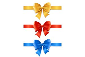 Satin Ribbon Set. Vector