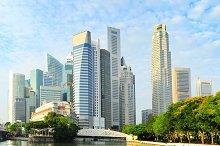 Skyline of Singapore downtown