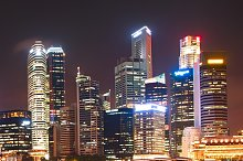 Lights of Singapore Downtown Core