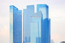Modern office buildings of Singapore