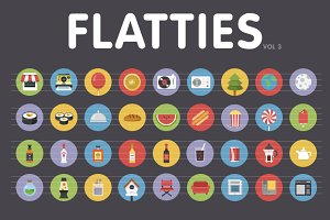 Flatties Vol 3 - Flat style icon set