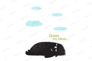 Leave Me Alone Black Little Monster