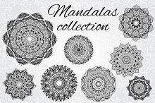 Set of 8 vector mandalas