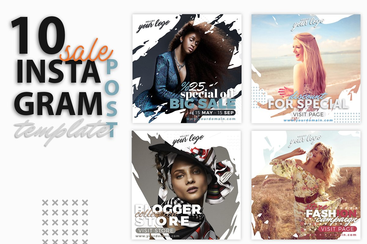 instagram Post Template-Sale in Instagram Templates