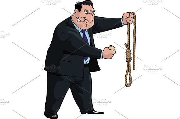 Man with soap and noose