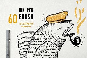 Ink Pen Brush vector