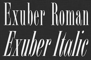 Exuber Typeface