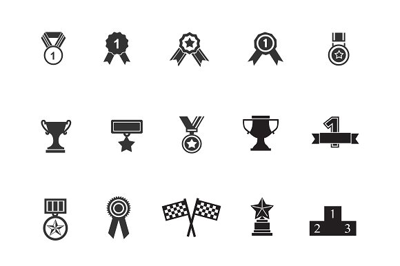 15 Award and Badge Icons