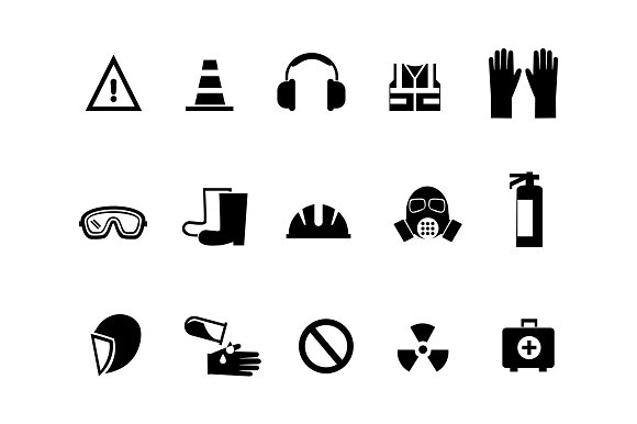 15 health and safety icons icons creative market