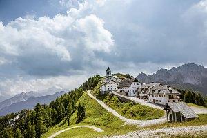 Italian village on mountains