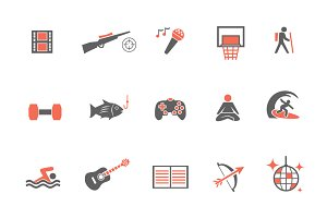 15 Hobby Icons