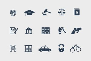 15 Law and Legal Icons