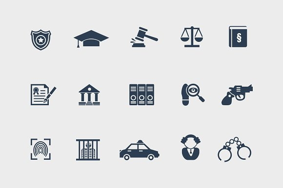15 Law and Legal Icons in Graphics