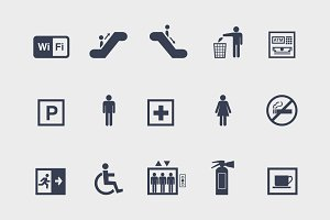 15 Public Sign Icons