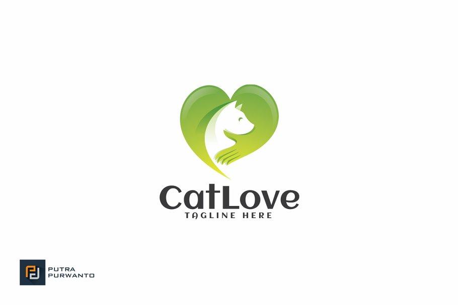 Cat Love - Logo Template