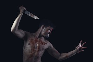 Bloody guy halloween