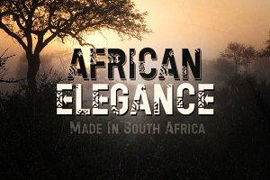 African Elegance Ethnic Lettering