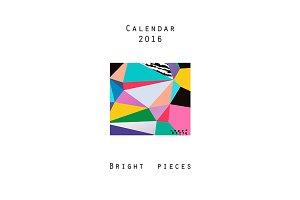 Calendar 2016. Bright pieces +