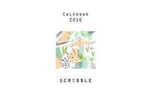 Calendar 2016. Scribble
