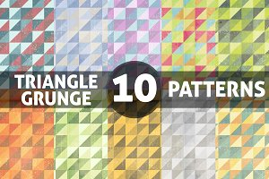 Grunge Triangle Patterns