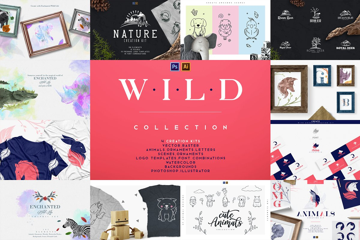 4in1 Wild Collection - PS and Ai