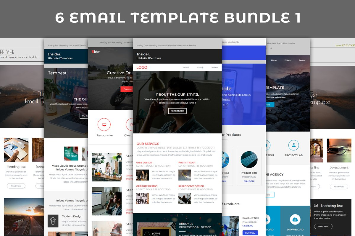 6 Email template bundle 1