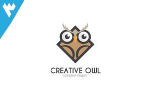 Creative Owl - Cube Logo